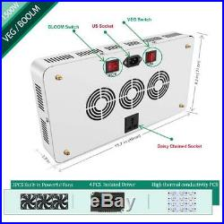 1500w LED Grow Light with Bloom and Veg Switch, Yehsence (15W LED) 1500 watt