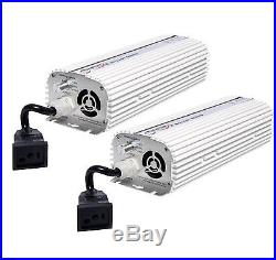 (2) QUANTUM 600W Watt HPS & MH Dimmable Digital Grow Light Lamp Ballasts QT600