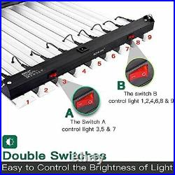 4000W LED Grow Light 6×6ft Coverage Dual Switch Full Spectrum Grow 400.0 Watts