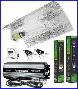 Hydroponic 600 Watt Hps Mh Grow Light Wing Reflector Kit Easy To Set Up Quality