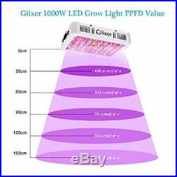 LED Grow Light 1000 Watts Full Spectrum Double Switch Chips Indoor Plant Lamp