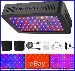 LED Grow Light 600 Watts Double Switch Adjustable Rope Hanger Full Spectrum