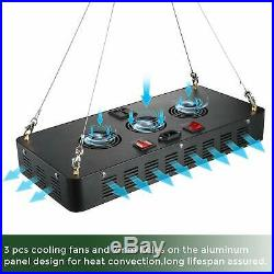 LED Grow Light with Veg&Bloom Switch, GREENGO 3 Chips LED Plant Grow Lam