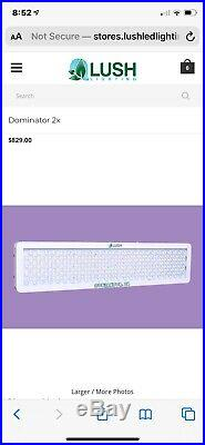 Lush led grow light 2x 450 watt used in perfect condition, very lightly used