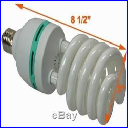 New Hydroponic Full Spectrum Cfl Grow Light Bulb 60 Watt 5500K H60 Lamp Fast Shi