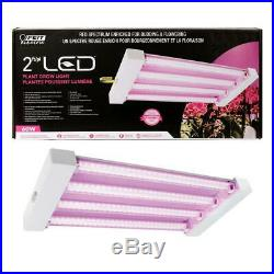 Plant Grow Light Fixture 2 ft. 4-Light 60-Watt White LED Hydroponic Non-Dimmable
