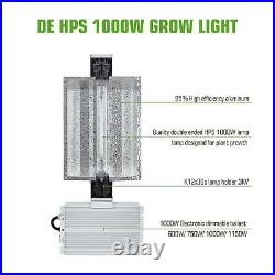 TopoGrow 1000W Watt Double Ended Grow Light WithHPS Bulb Grow Tent Flower Stage