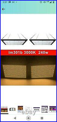 Two 288pcs Lm301b boards with 240 Watt meanwell driver Grow Light