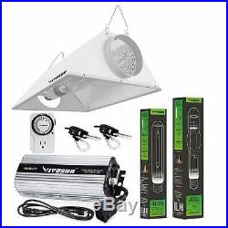 VIVOSUN 400w Watt Grow Light System HPS MH Ballast Air Cool Hood Kit US Stock